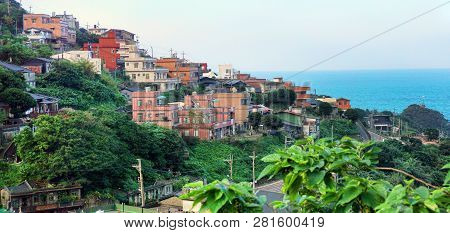 Jiufen,taiwan- Dec.1,2018 Mountain Town In Ne Taiwan.was Once A Gold Mining Town In The Past.