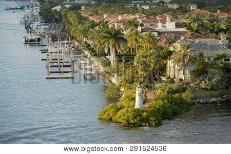 View of the Harbour Island part of Tampa, Florida and waterfront. poster