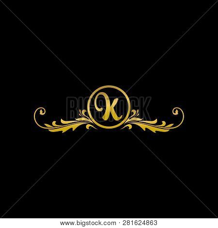 Letter K Luxury Logo, Classic And Elegant Logo Designs For Industry And Business, Boutique Logo, Gol