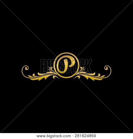 Letter P Luxury Logo, Classic And Elegant Logo Designs For Industry And Business, Boutique Logo, Gol