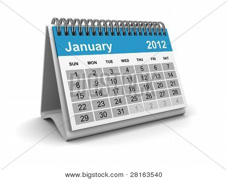 Calendar 2012 - January
