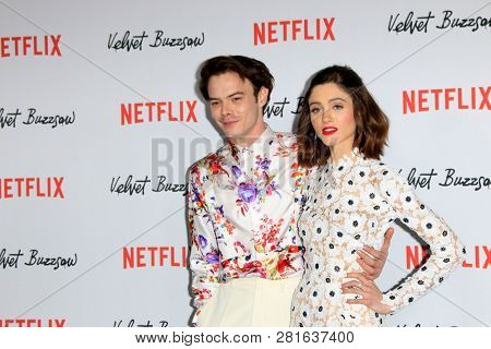 LOS ANGELES - JAN 28:  Charlie Heaton, Natalia Dyer at the