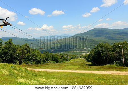 Mount Washington In Summer, From Summit Of Mount Rosebrook, Bretton Woods, New Hampshire, Usa.
