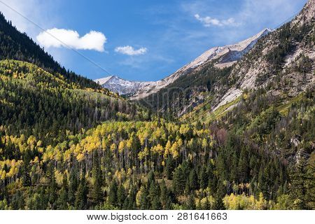 Chair Mountain 12,721 Feet Is Within The Ragged Wilderness Of The Gunnison National Forest. Looking