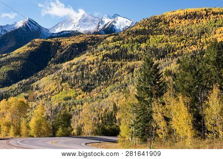 View From Mcclure Pass Colorado Along The West Elk Loop Scenic Byway On Colorado 133.  Chair Mountai