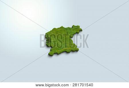Polish 3d Province Greater Poland Of Wielkopolska-wielkopolskie. 3d Of Poland On A Light Background.