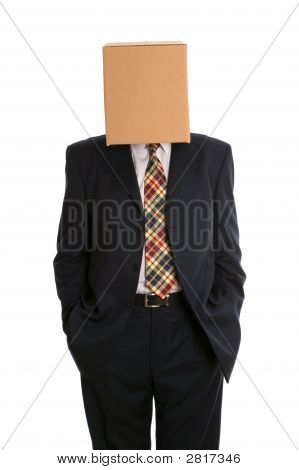 Box Man Hands In Pockets