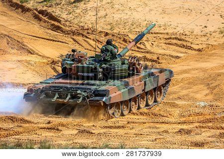 Tanks In Latvia. International Military Training
