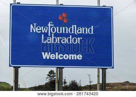 Welcome To Newfoundland Sign