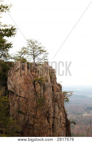 Cliff Ridge Mountain With Trees