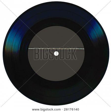 Vintage vinyl record isolated on white background