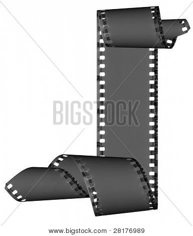 Abstract slide films frame isolated on white