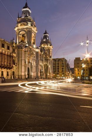 Catedral On Plaza De Armas Mayor Lima Peru