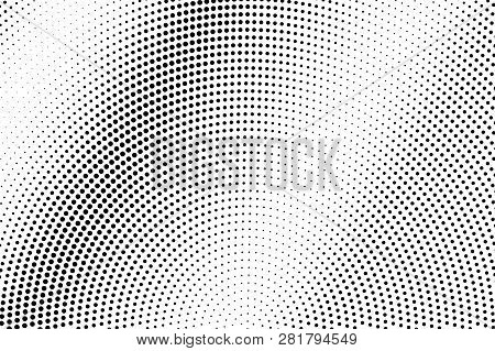 Black On White Faded Halftone Texture. Diagonal Dotwork Gradient. Rough Dotted Vector Background. Mo