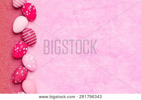 a beautiful colored eggs easter background 3d illustration