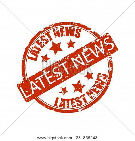 Latest News Rubber Stamp Isolated On White. Icone News, Vector Latest News Icon, Latestnews Illustra