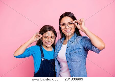 Portrait Of Two Nice Trendy Cute Winsome Pretty Lovely Attractive Charming Cheerful Cheery Positive