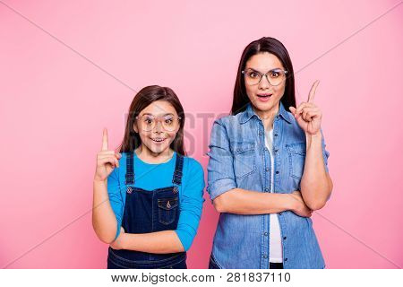 Portrait Of Two Nice Cute Pretty Lovely Attractive Charming Funny Brainy Cheerful Straight-haired Gi