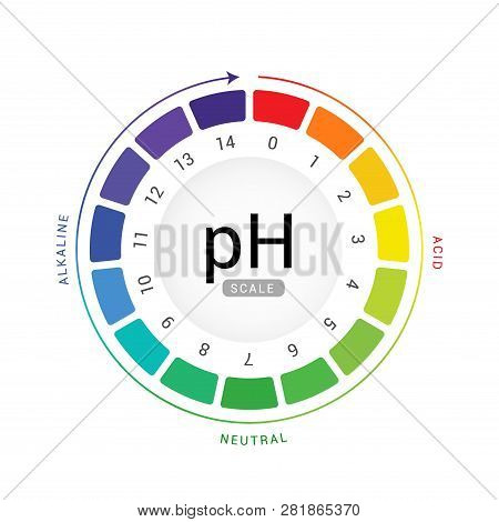 Ph Scale Indicator Chart Diagram Acidic Alkaline Measure. Ph Analysis Vector Chemical Scale Value Te