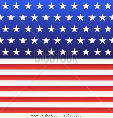 A Fragment Of The National Flag Of The United States. Abstract Background