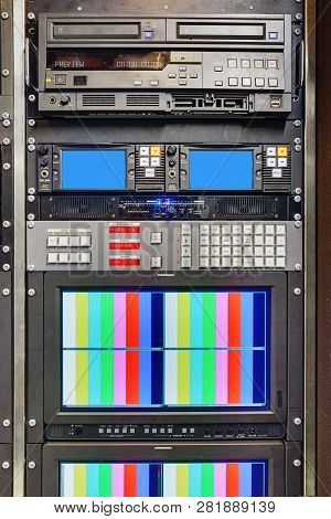 Video Recorder Of Video Recording In 4k For Live Broadcasts Of Football Broadcasts With On-site Tele