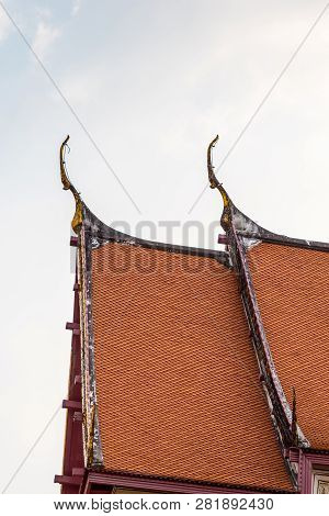 Gable Apex On The Gable Of The Temple Roof