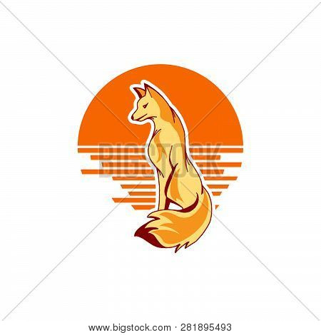 Fox Vector Illustration. Fox Vector. Figure Foxes. Fox On A White Background. Fox Wild. Beautiful Fo
