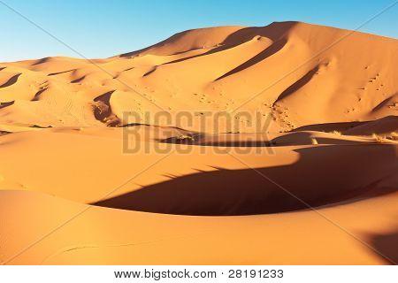 Sanddünen und blauer Himmel