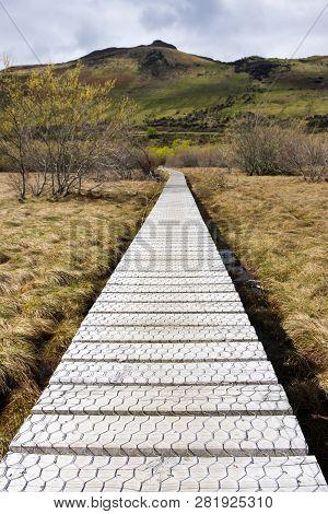 Boardwalk In Glenorchy, South Island, New Zealand