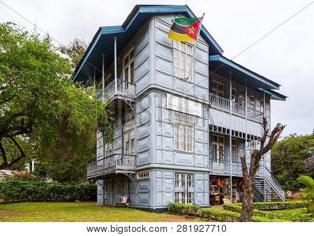 Maputo, Mozambique - Nov 20 2018: The Iron House - Casa De Ferro, Maputo, Mozambique -mozambic - Mad