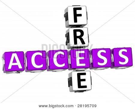 3D Access Free Crossword