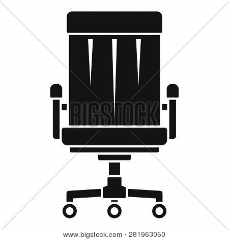 Boss Leather Chair Icon. Simple Illustration Of Boss Leather Chair Vector Icon For Web Design Isolat
