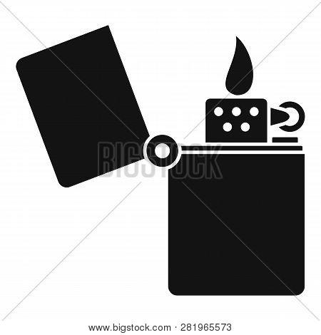 Kerosene Lighter Icon. Simple Illustration Of Kerosene Lighter Vector Icon For Web Design Isolated O