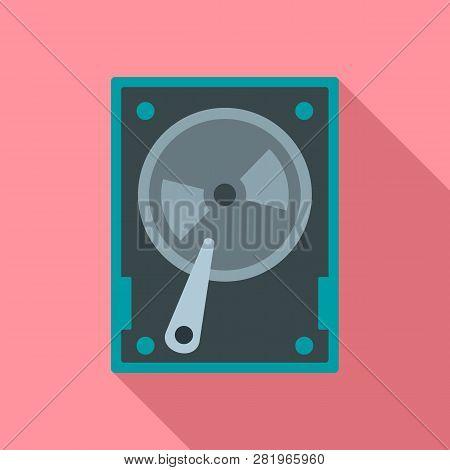 Magnetic Hard Disk Icon. Flat Illustration Of Magnetic Hard Disk Vector Icon For Web Design