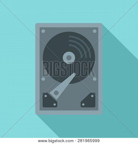 Server Hard Disk Icon. Flat Illustration Of Server Hard Disk Vector Icon For Web Design