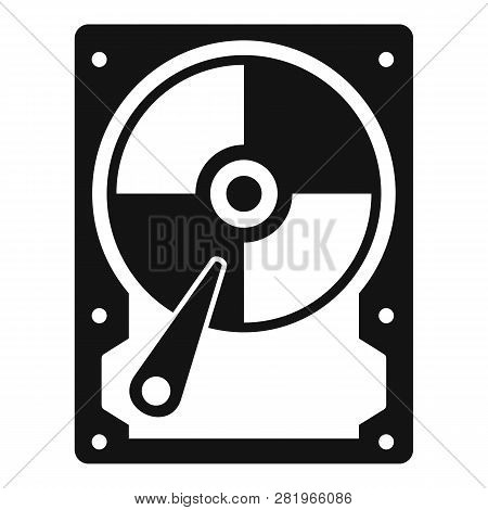 Hard Disk Icon. Simple Illustration Of Hard Disk Vector Icon For Web Design Isolated On White Backgr