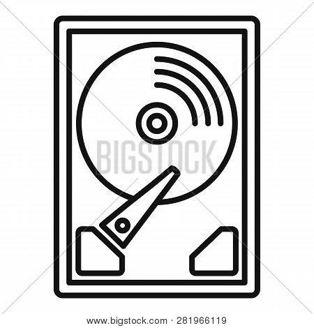 Server Hard Disk Icon. Outline Server Hard Disk Vector Icon For Web Design Isolated On White Backgro