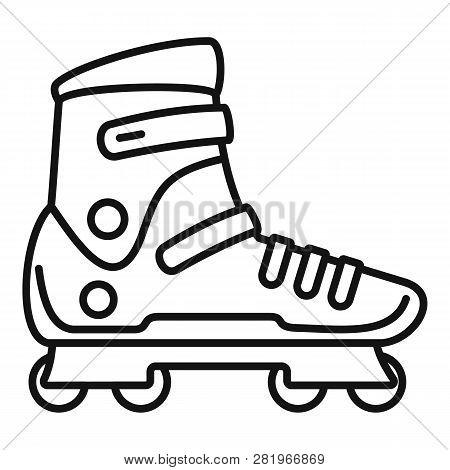Extreme Sport Inline Skates Icon. Outline Extreme Sport Inline Skates Vector Icon For Web Design Iso