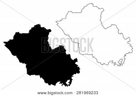 Map Of Northern Ireland With Counties.County Fermanagh Vector Photo Free Trial Bigstock