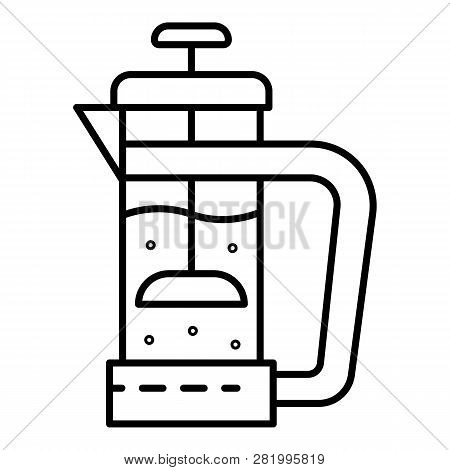Glass Tea Infusion Icon. Outline Glass Tea Infusion Vector Icon For Web Design Isolated On White Bac