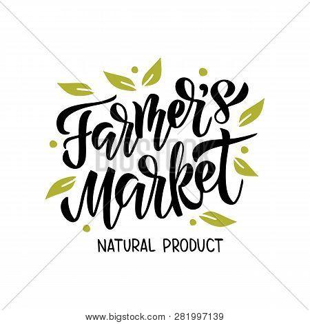 Farmer's Market Lettering