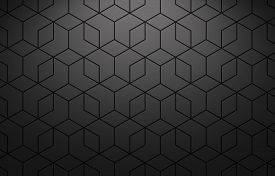 The Geometric Pattern With Lines. Seamless Vector Background. Black Texture. Graphic Modern Pattern.