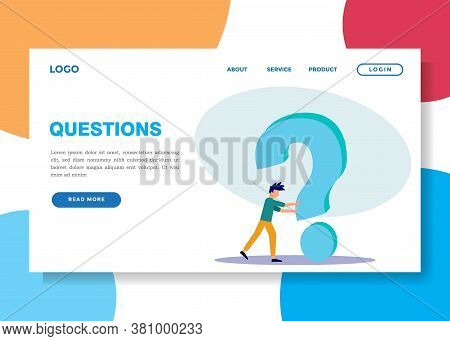 Vector Illustration, An Illustration Of The Concept Of Frequently Asked Questions Around Exclamation