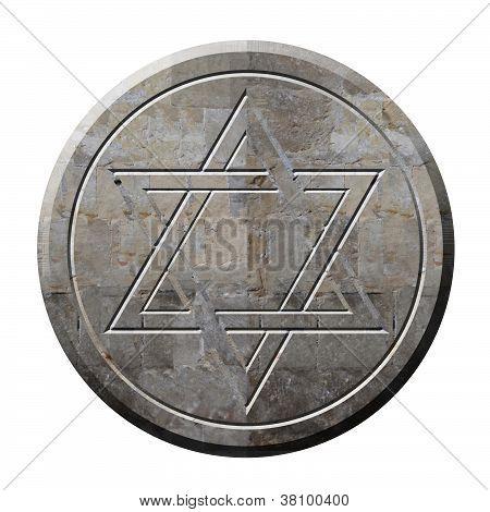 Star Of David Symbol In Stone