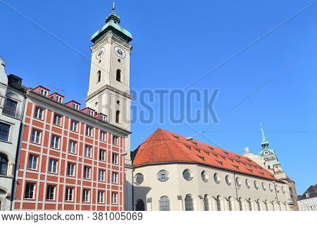 Germany. A View Of The Old Munich In A Sunny Summer Day