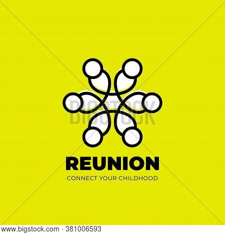 Reunion Logo With Several People & Unity Icon