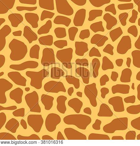 Giraffe Skin. Background Image Of Giraffe Skin. Vector Illustration. Vector.