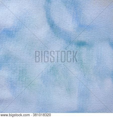 Blue Watercolor Texture For A Graphic Design Element For A Background Or Other Project.  12x12 Digit