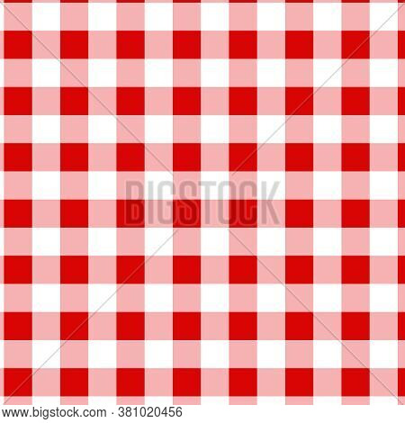 Buffalo Checks Red And White Pattern Background Digital Paper In 12x12 Gingham Plaid Design Element.