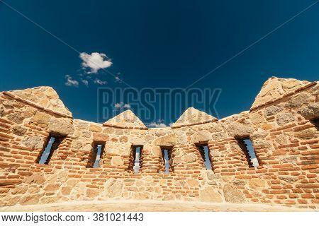 Avila, Castile And Leon, Spain. Medieval Avila Castle From Inside.